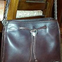 Brighton Brown Leather Purse With Sterling Silver Hearts  Photo