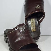 Brighton Brown Leather Sandals / Mules Size 6 M Photo