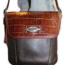 Brighton Brown Medium Leather Shoulder Hobo Tote Satchel Slouch Purse Bag Photo