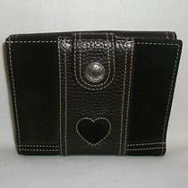 Brighton Brown Suede & Leather Bi-Fold Wallet Photo