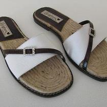 Brighton Brown/white Leather Slides  Style Name Olivia  Size 6.5m Photo