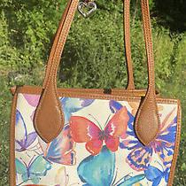 Brighton Butterflies Suncatcher Watercolors Tote Satchel Handbag Med. Purse Photo