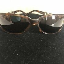 Brighton Central Park Sunglasses Tortoise Silver & Gold Tone Ornate Arms Stylish Photo