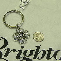 Brighton Charm Keychain Key Fob Crystal Good Luck Clover Shamrock Irish Nwt Photo