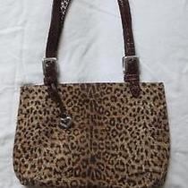 Brighton Cheetah Print Handbag/purse With Matching Cell Phone Carrier Guc Photo