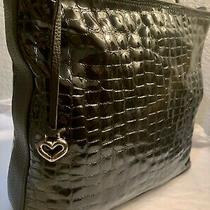 Brighton Cher Black Patent Leather Shoulderbag Purse Tote Handbag Cost 275) Photo