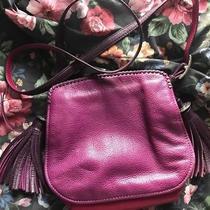 Brighton  Chica  Purple Plum Tasseled Hobo Messenger Crossbody Shoulder Bag  Photo