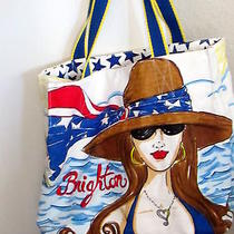 Brighton Chics Ahoy Summer Canvas Beach Tote Handbag Purse Photo