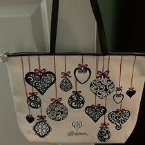 Brighton Christmas Holiday Limited Edition Love Notes Tote Bag Preowned Photo