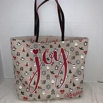 Brighton Christmas Joy Sparkle Canvas Tote Bag Limited Edition Merry & Brighton Photo