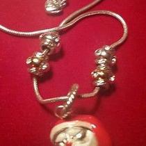Brighton Christmas Santa Necklace 18 Inches... (Nwot) Photo