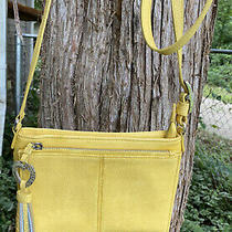 Brighton City Banks Yellow Small Purse Drop Down Wallet Organizer Crossbody Bag Photo