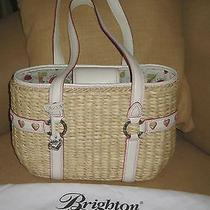 Brighton Collectable Handbag Teddy Straw Only One on Ebay Box Dust Bag Hang Tag Photo
