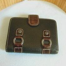 Brighton Collectables Ladies Black & Brown Leather Wallet -  Preowned Photo