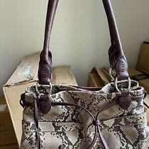 Brighton Collectibles Brown Beige Snake Shoulder Bag Purse Photo