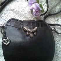 Brighton Collection Petite Shoulder Bag With Silver Charms  Vintage Collectible Photo