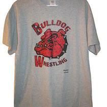 Brighton Colorado It's Time Bulldog Wrestling Gray T Tee Shirt Mens S Small Photo