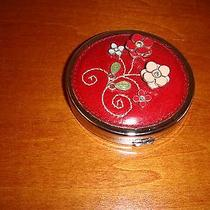 Brighton Compact Mirror Red With Pastel & Red Flowers Photo