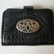 Brighton Compact Trifold Organizer Wallet Coin Purse Black Leather  Photo