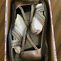 Brighton Craft Leather Metallic  Sandals Photo
