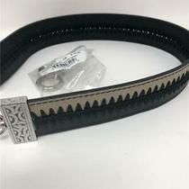 Brighton  Crochet  Purse Strap Nwt Black/beechwood Tan ( No Rings )  Reversible Photo