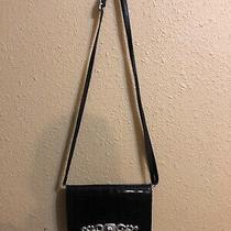 Brighton Crossbody Wallet Black Croco & Pebble Leather Photo