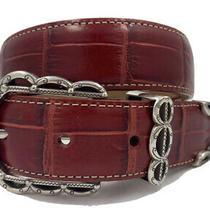 Brighton Dallas Classic Croco Leather Belt Size 26  Made in Usa   B10457 Photo