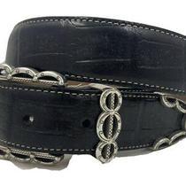 Brighton Dallas Classic Croco Leather Belt Size 28  Made in Usa   B10453 Photo