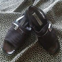 Brighton Dark Brown Microfiber Sandals 8.5 M  Photo
