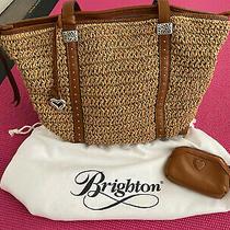 Brighton Dayton Straw Tote Wheat Luggage Photo