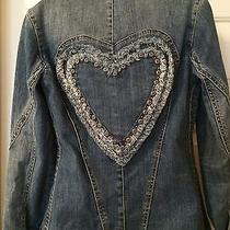 Brighton Denim Follow Your Heart Jacket With Heart on Back and Studs Photo