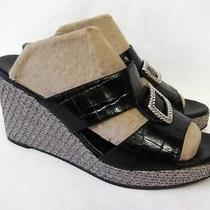 Brighton Devon Platform Wedge Slide Sandal 170 Women Size 9 Excellent Photo