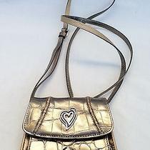 Brighton Disco Metallic Leather Credit Card Cell Phone Crossbody Bag Photo