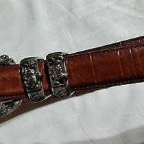 Brighton Disney Mickey Mouse Brown Leather Belt  32