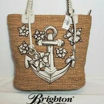 Brighton Dockside Nautical 3d Anchor Leather Applique Tote Shoulder Handbag 360 Photo