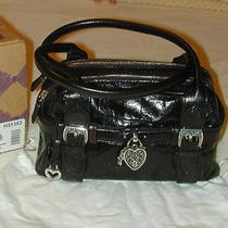 Brighton Emmerson Black Heart Lock Handbag Purse Photo