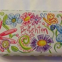 Brighton Eyeglasses Sunglasses Hinged Metal Case  Only  Floral Design Photo