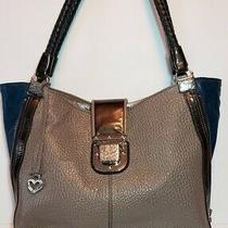 Brighton Fashionista City Block Dovima Grey Blue Black Shoulder Hand Bag Mrp350 Photo