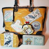 Brighton Fashionista First Class Travel Tote Handbag/wallet/cosmetic/cion Purse Photo