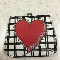 Brighton Fashionista Paris Heart French Kiss Wallet Black/white/red Leather Photo