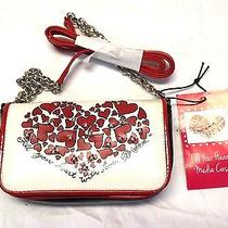 Brighton Fill Your Heart Media Case Handbag Shoulder Bag Black Cream Red Nwt Photo