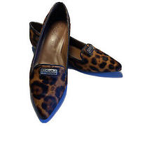 Brighton Flats Pointy Fur Loafers Brown Leopard Animal Print Eve Us 8.5 Us 38 Eu Photo