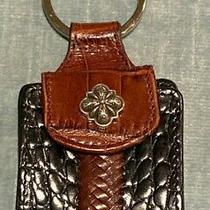 Brighton Flower Key Chain W/ Leather Change Purse Heart Mirror & Picture Holder Photo