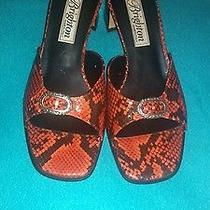 Brighton 'France' Snake Skin Italian Slide Sandalswomens Size 8.5 M Photo