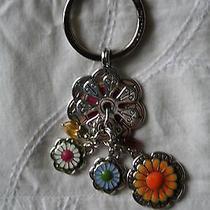 Brighton Fun Flower Keychain Fob W/charms Summer Photo