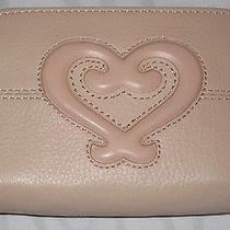 Brighton Genoa Heart Card Case With Key Fob Ring in Ballet Pre-Owned Photo