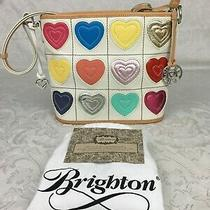 Brighton Genuine Leather Hearts Valentine Bag Purse Handbag Ornate Hardware Photo