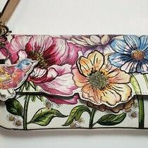 Brighton Goldie-Enchanted Garden Embroider Floral Leather Shoulderbag Mrp340 Photo