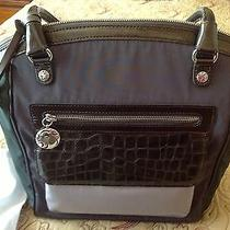 Brighton H5236m Morgan Tote Multi Microfiber Croc Patent Leather Nwt Photo
