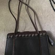 Brighton Handbag Black Leather 7x10 With Straps Photo